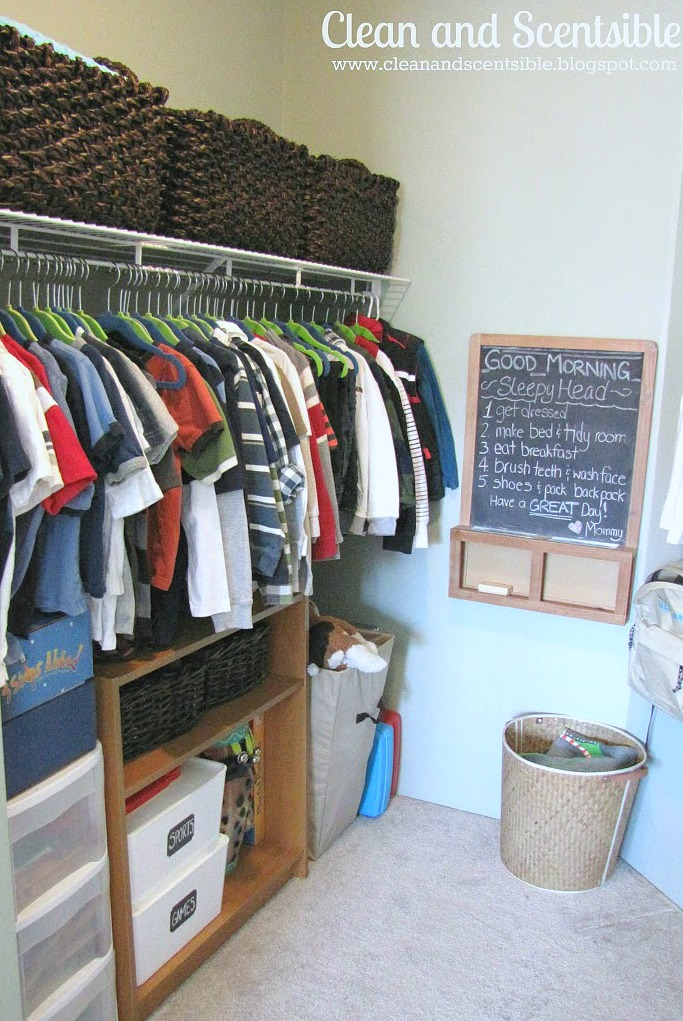 Tips For Organizing Kidsu0027 Closets. // Cleanandscentsible.com