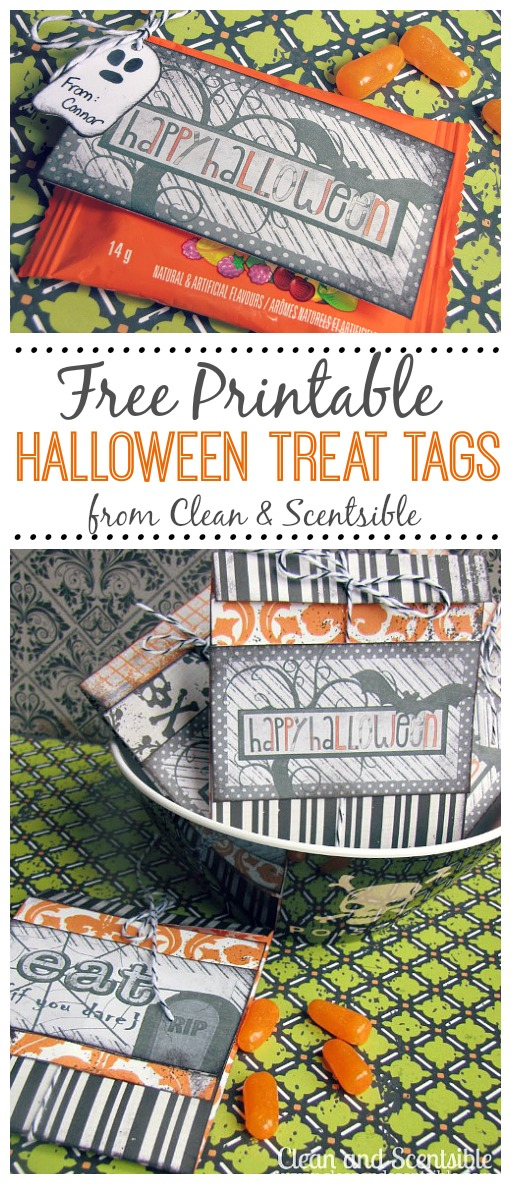 photo regarding Printable Halloween Tag referred to as Halloween College or university Snacks Free of charge Printables - Contemporary and Scentsible
