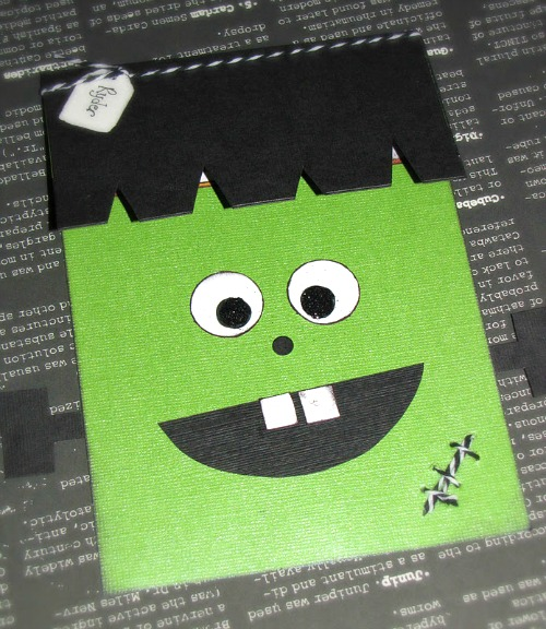 Tons of fun Halloween party ideas - these friendly Frankenstein invitatios would be cute for a preschool party.