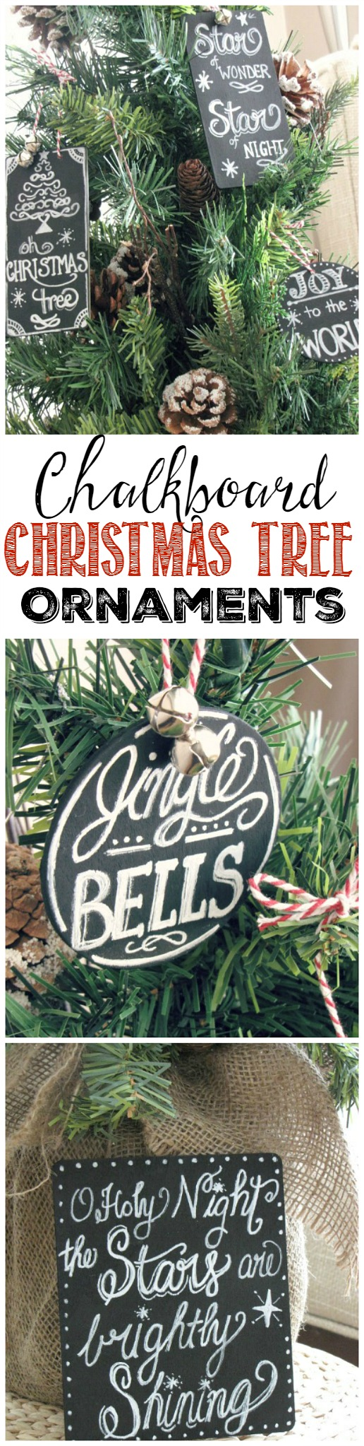 Chalkboard christmas tree ornaments clean scentsible