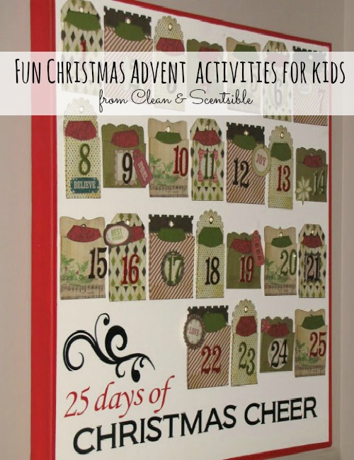 Advent Christmas Activities For Kids Clean Scentsible