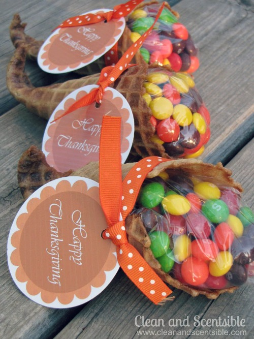 Cute Thanksgiving cornucopia treats.