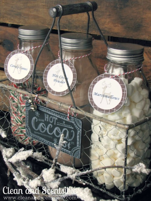Candy cane hot chocolate bar.  So cute for the holidays!