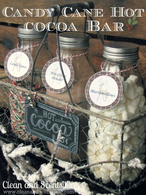 Love this candy cane hot cocoa bar - perfect for the holidays!  Yum!!