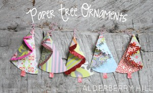PAPER TREE ORNAMENTS 10 thumb1 Paper Cone Christmas Trees