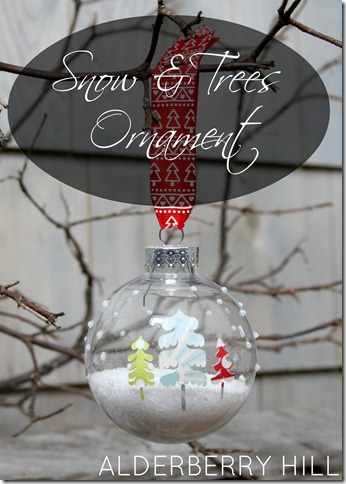 Snow and Trees Ornament