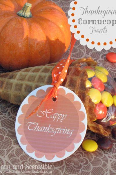 Cornucopia Thanksgiving Treats for Kids