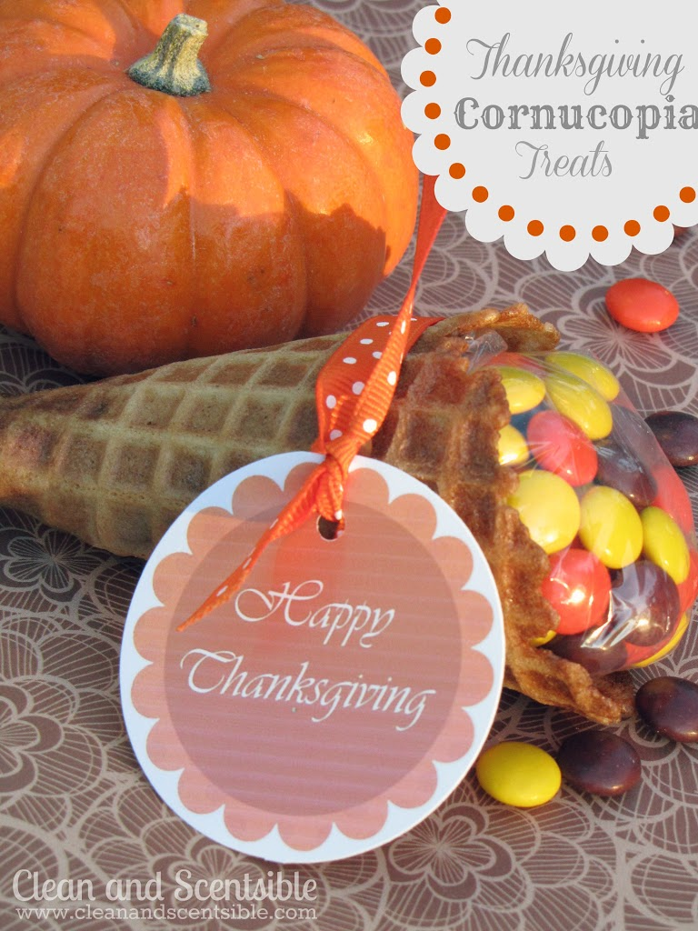 Cornucopia Thanksgiving Treats for Kids