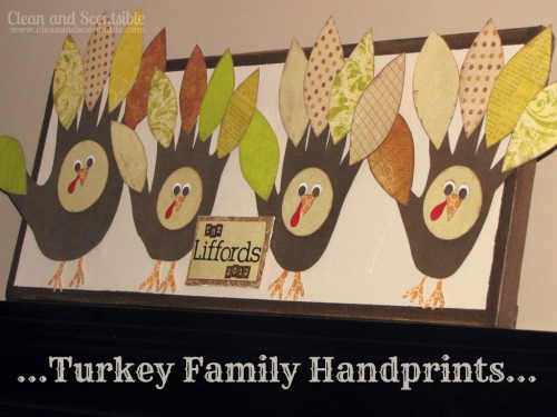 Thanksgiving handprint turkeys for the whole family!