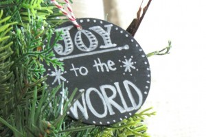 Chalkboard Chistmas Tree Ornaments