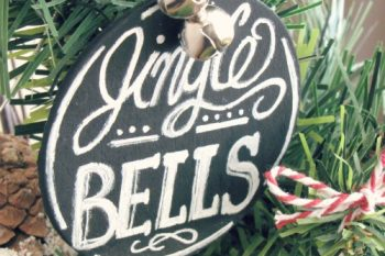 Chalkboard Christmas Tree Ornaments
