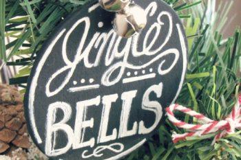 Chalkboard Christmas Tree Ornaments