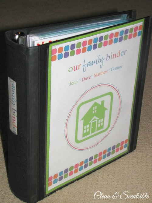 Top Organization Projects of 2012: Family Binder.
