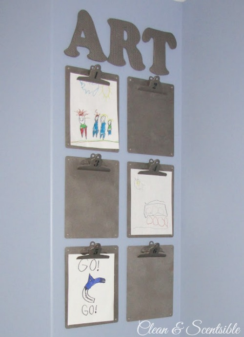 Top Organization Projects of 2012: Kids Art Display