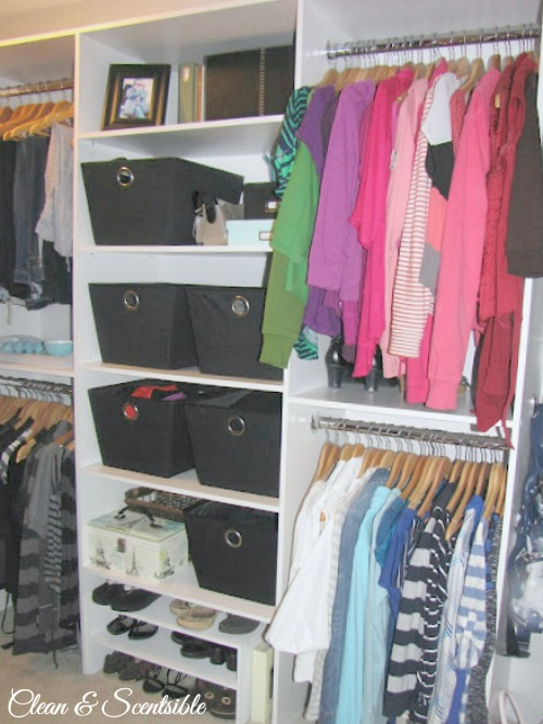 Top Organization Projects of 2012: How to organize a closet.