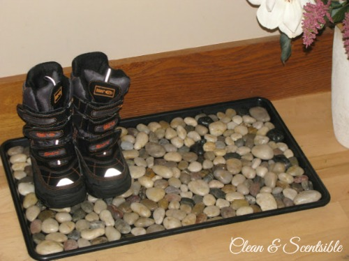Top Organization Projects of 2012: How to make a pebble boot tray.