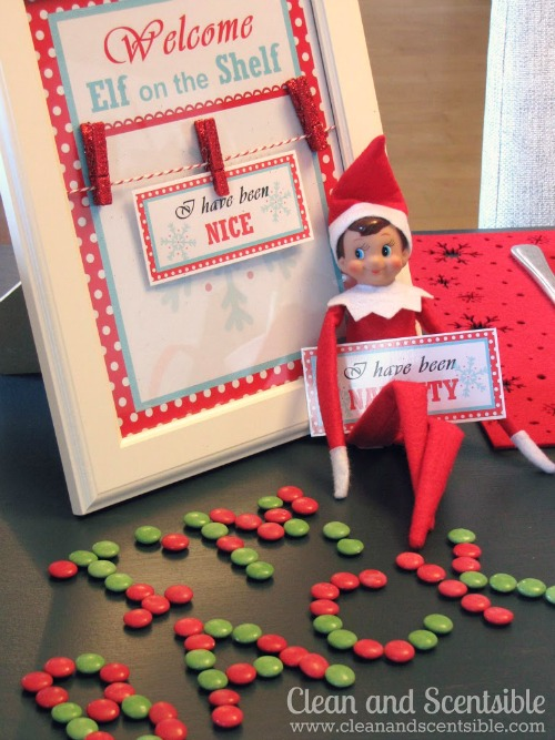 Elf on the Shelf Welcome Breakfast with Free Printables.  Awesome ideas!  #elfontheshelf #Christmas brunch
