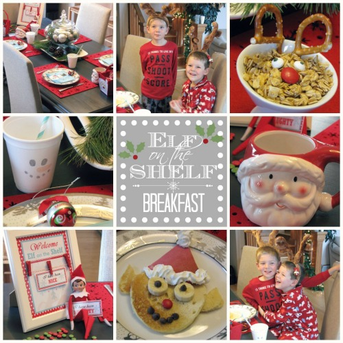 Fun Elf on the Shelf Welcome Breakfast or Christmas brunch. #elfontheshelf #Christmas brunch