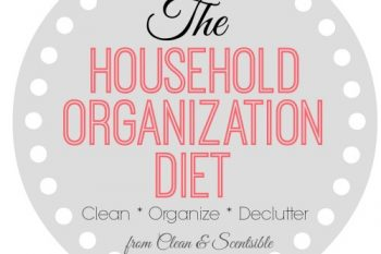 The Household Organization Diet {How to Get Organized}