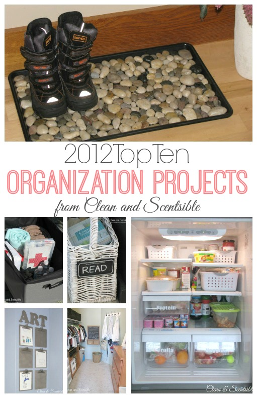 Lots of organization project ideas to help get you inspired and organized!