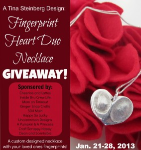 Fingerprint Heart Duo Necklace Giveaway