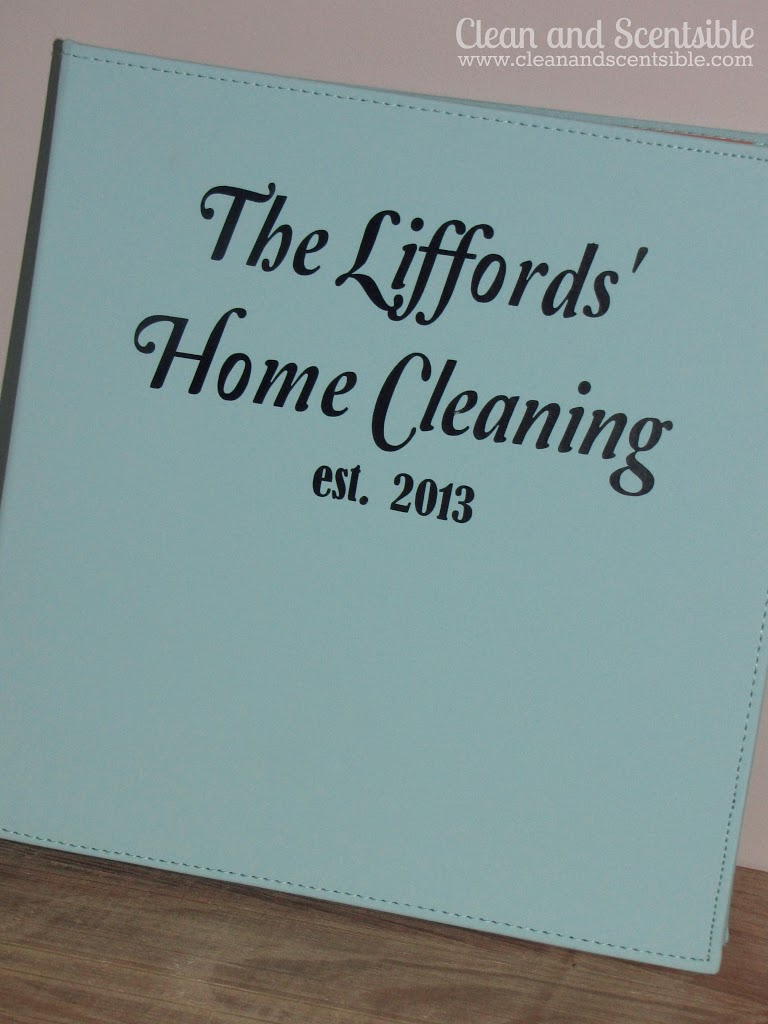 Creating a Cleaning Binder {HOD}
