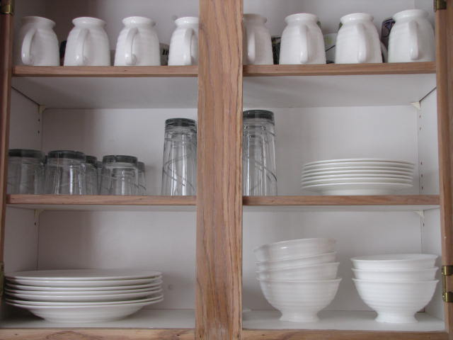 The Household Organization Diet – Getting Started on the Kitchen Cabinets