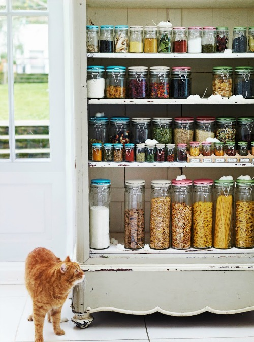 Great ideas on how to organize your pantry.