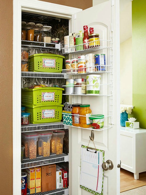 Great tips on pantry organization