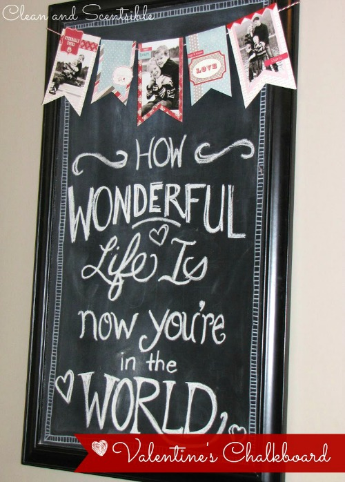 Photo Banner And Valentine S Day Chalkboard Clean And Scentsible