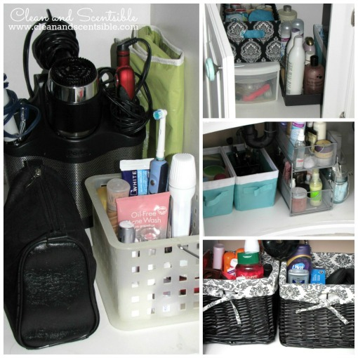 Great bathroom organization and storage tips!