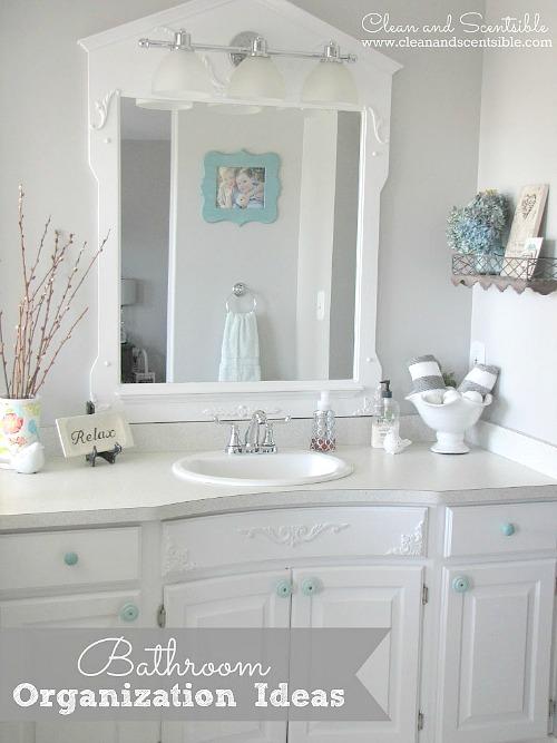 Great bathroom storage and organization ideas!