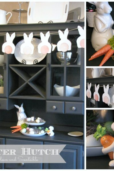 Easter Buffet and Hutch