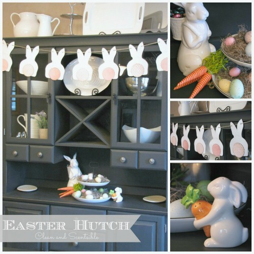 Easter Decorating Ideas - Love this buffet and hutch!