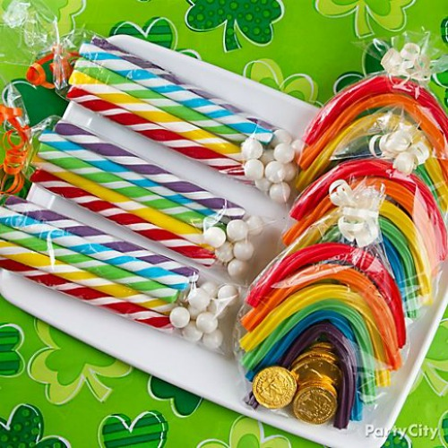Awesome rainbow ideas for St. Patrick's Day.