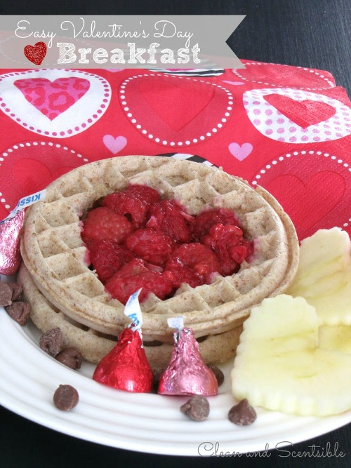 Quick and easy Valentine's Day breakfast.