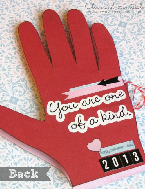 Sweet Valentine's Day handprint photo card.