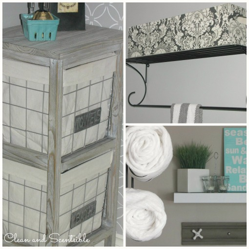 Great bathroom organization and storage ideas!