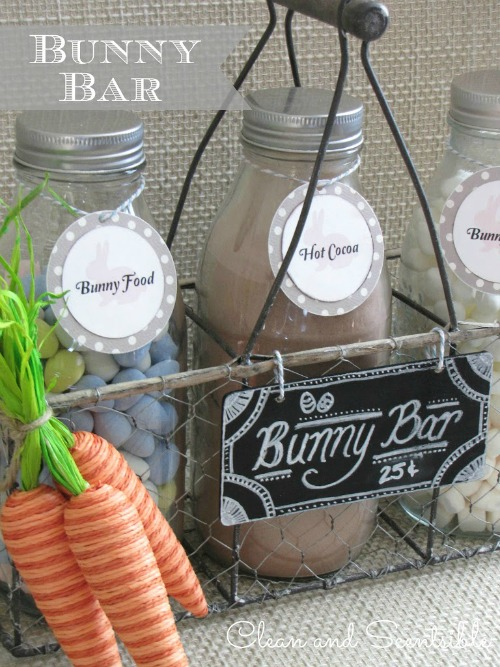 Easter hot chocolate bar.