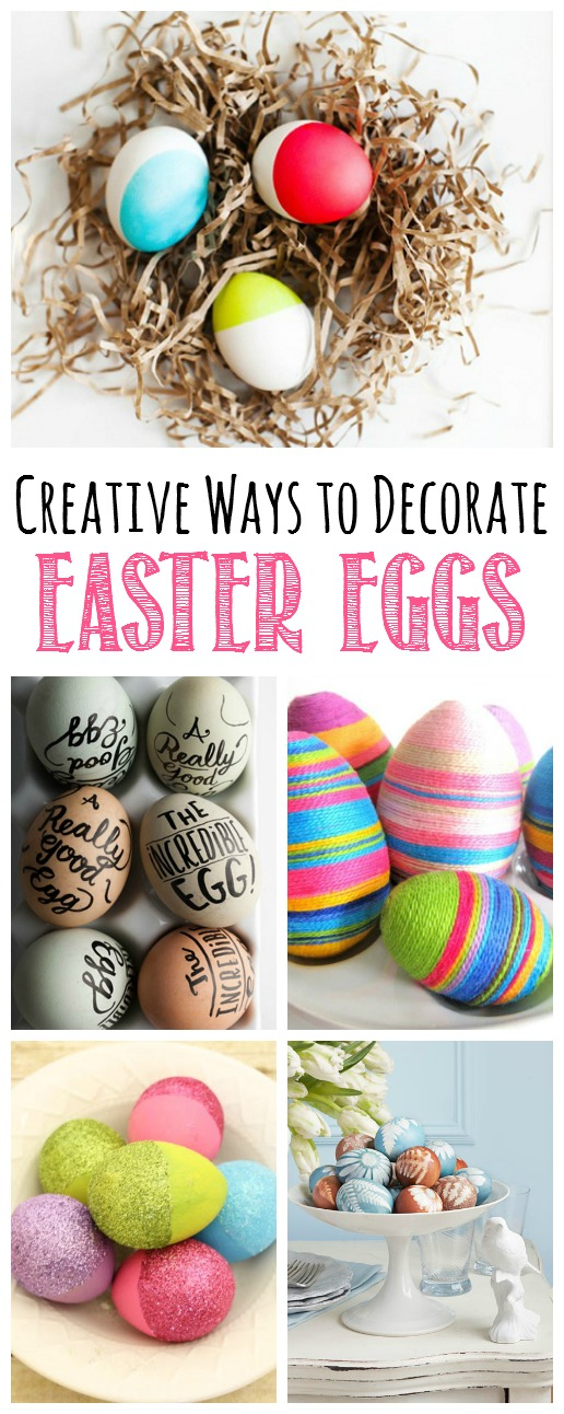Beautiful collection of creative Easter egg decorating.