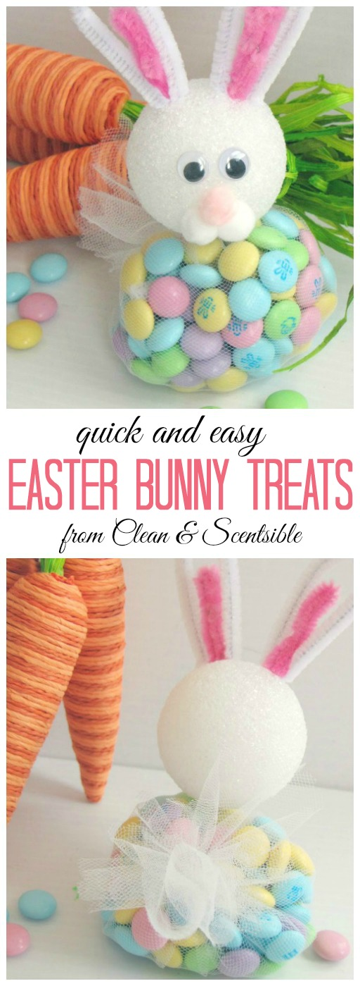 Easter Bunny Treats.  These are really easy to make and SO cute!  Perfect for the Easter table!