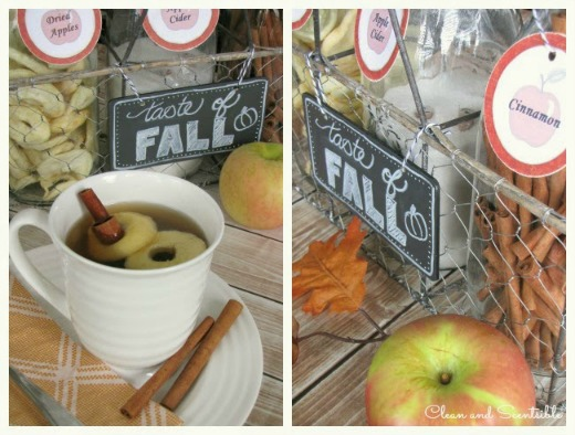 Fall apple cider bar. Love it!