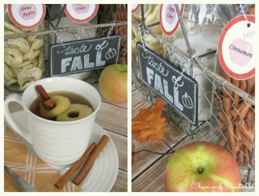 Fall apple cider bar. Love it!