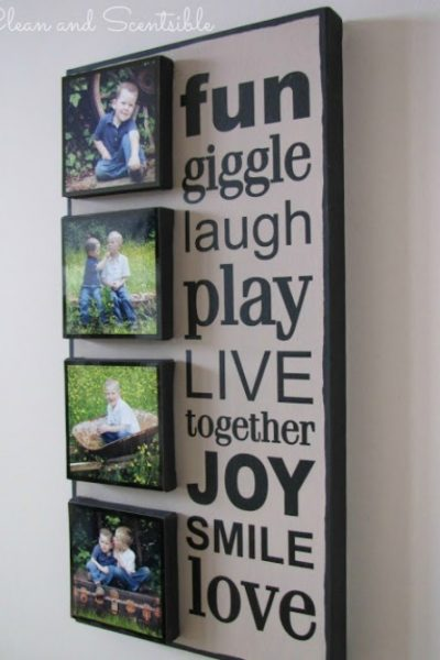 DIY Photo Canvas - stack smaller canvases on a larger one fro a more dramatic effect.
