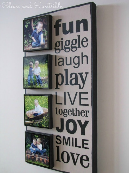 Layered DIY Photo Canvas