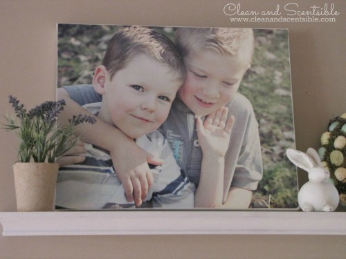 Make your own photo canvases with just a few supplies!