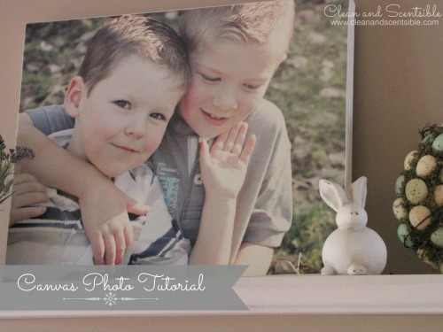 Make your own photo canvases with just a few supplies.