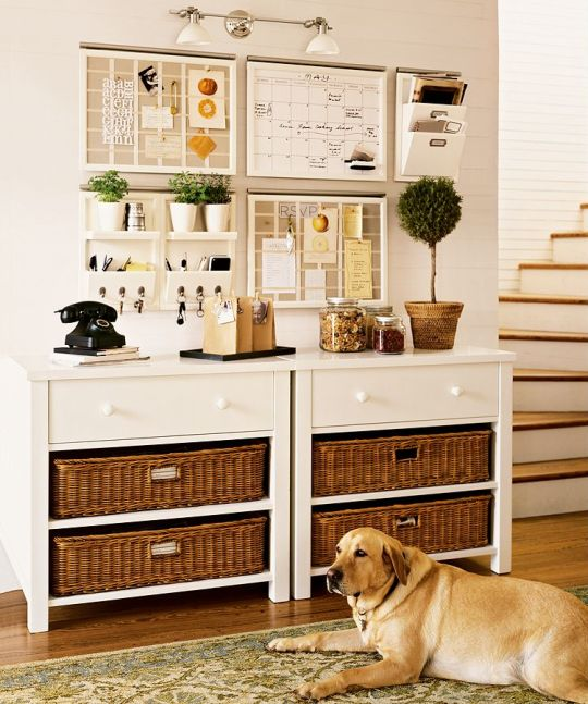 Going Coastal Pottery Barn Part I: Organizing A Kitchen Command Center
