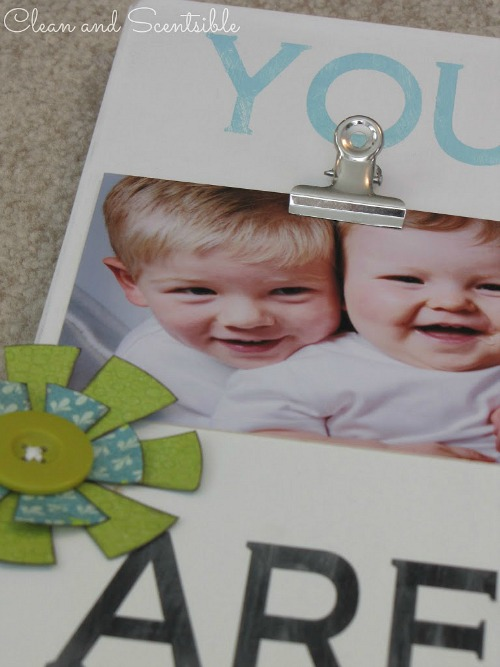 Easy DIY Photo Display Board.  Such a great gift idea and can be customized for any event!