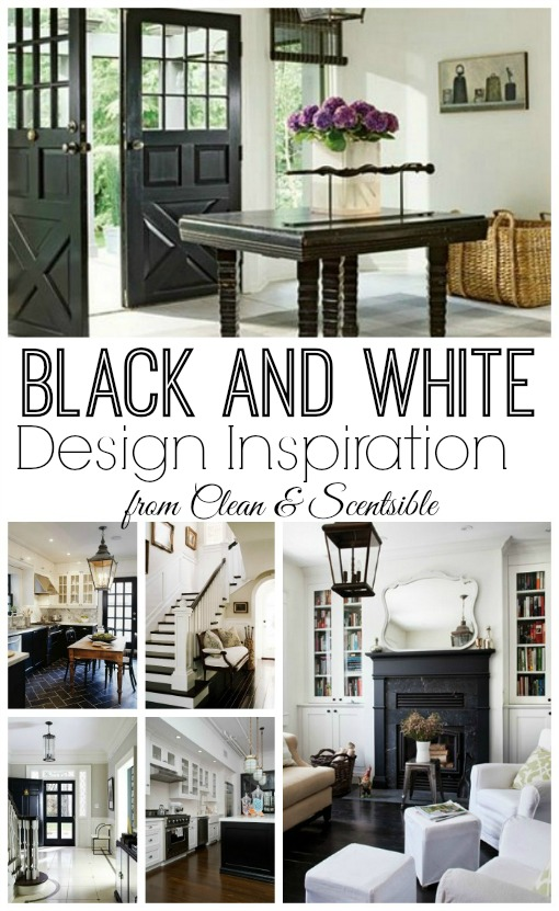 Black and white design inspiration.